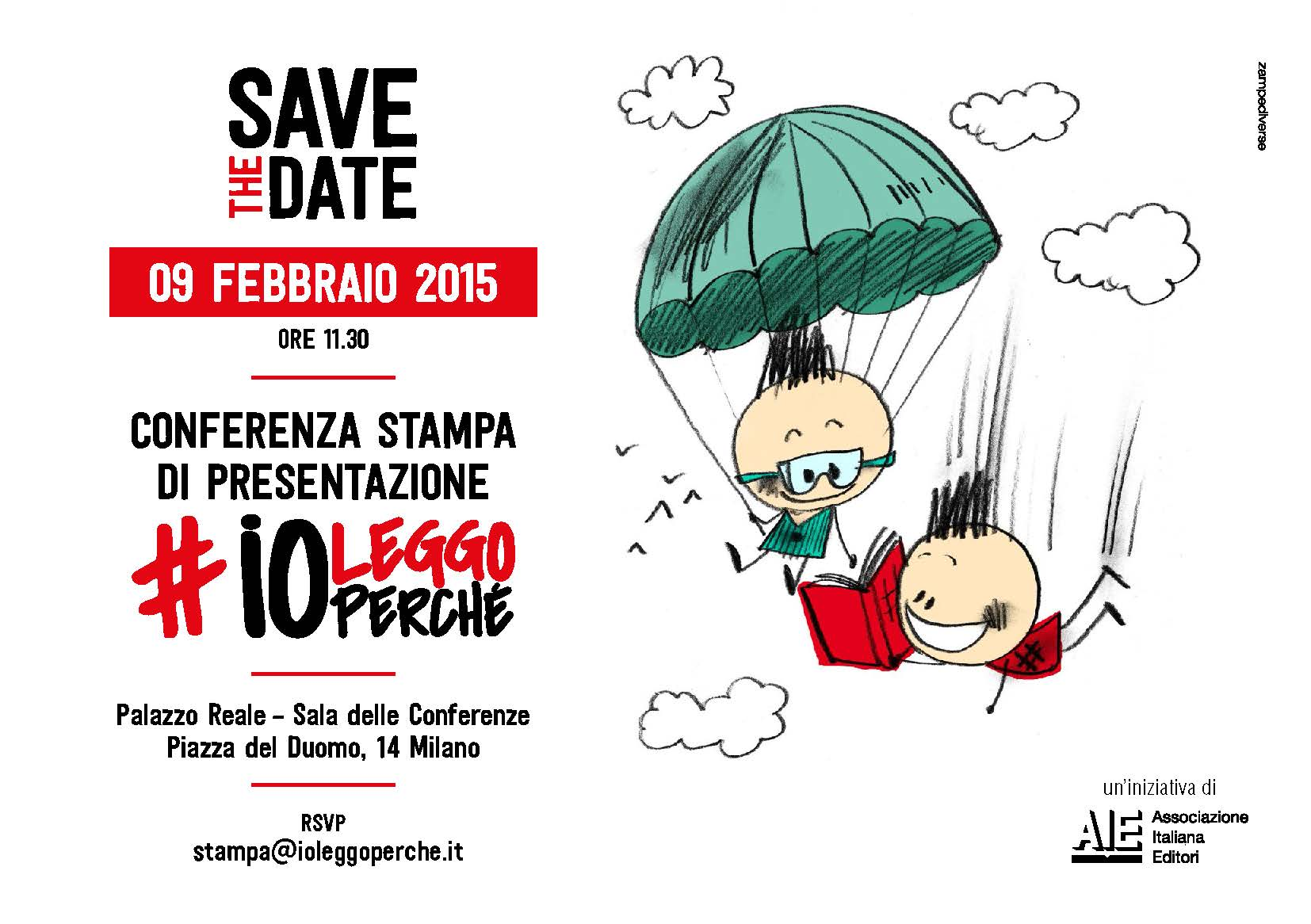9 febbraio – Conferenza Stampa Presentazione #ioleggoperché