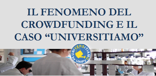 """23 febbraio – Il fenomeno del crowdfunding e il caso """"Universitiamo"""""""