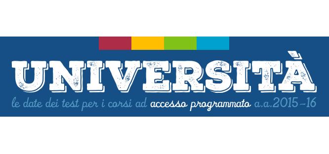 Date dei test per i corsi ad accesso programmato 2015/2016