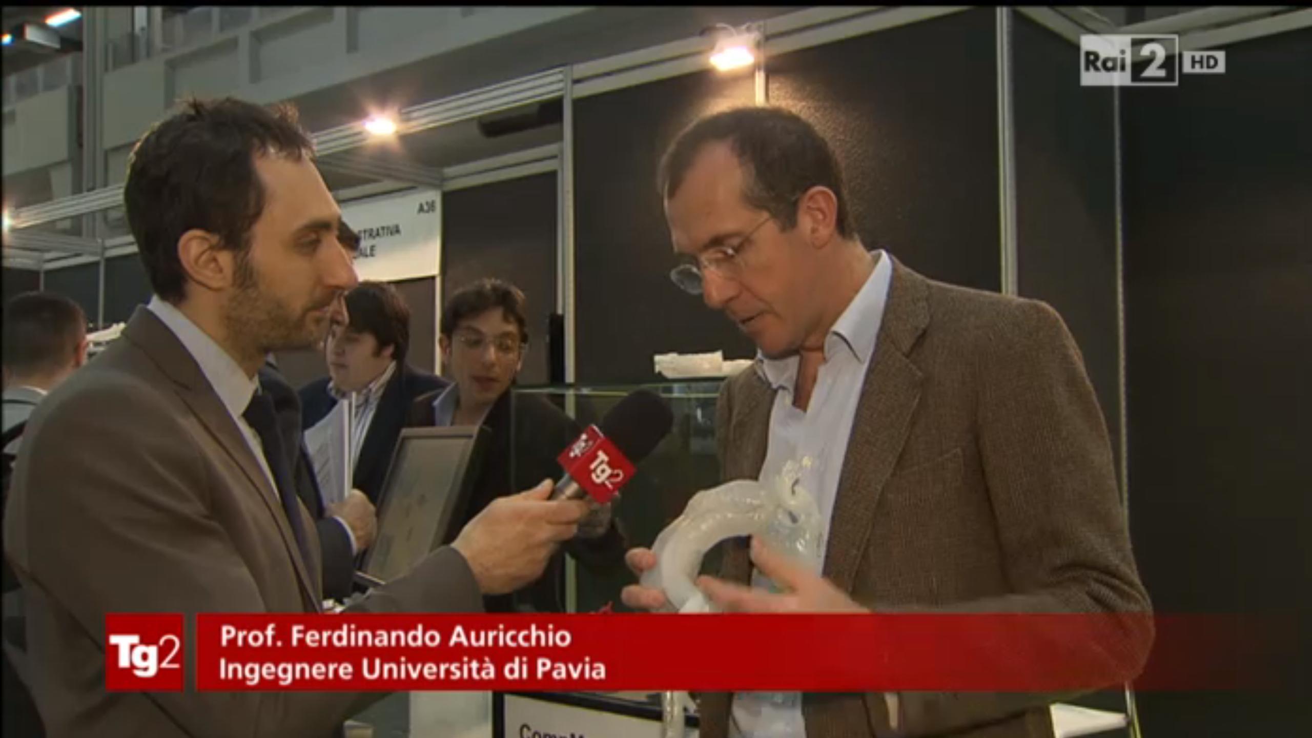 Stampa 3D: L'Università di Pavia a TG2 Medicina33