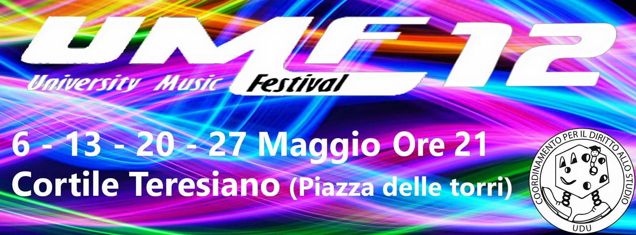 27 maggio - University Music Festival 2015