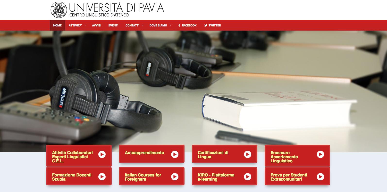 Online il nuovo sito del Centro Linguistico