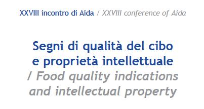 11 e 12 settembre - Segni di qualità del cibo e proprietà intellettuale