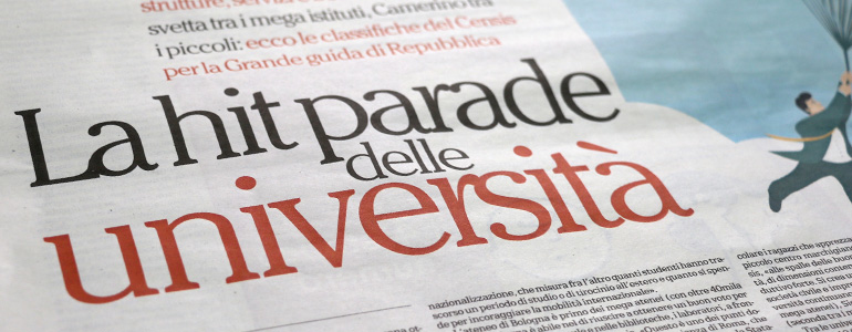 L'Università di Pavia è seconda nella classifica Censis-Repubblica