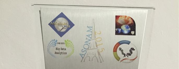 """Riconoscimento """"Best paper"""" al Convegno ASONAM 2015"""