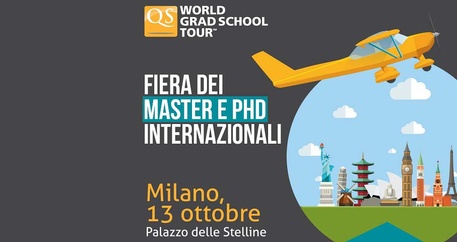 13 ottobre - QS World Grad School Tour. Giornata dell'orientamento post lauream
