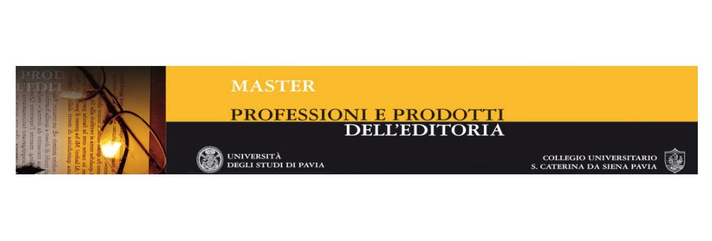 Master in Professioni e Prodotti dell'Editoria a.a. 2015/2016