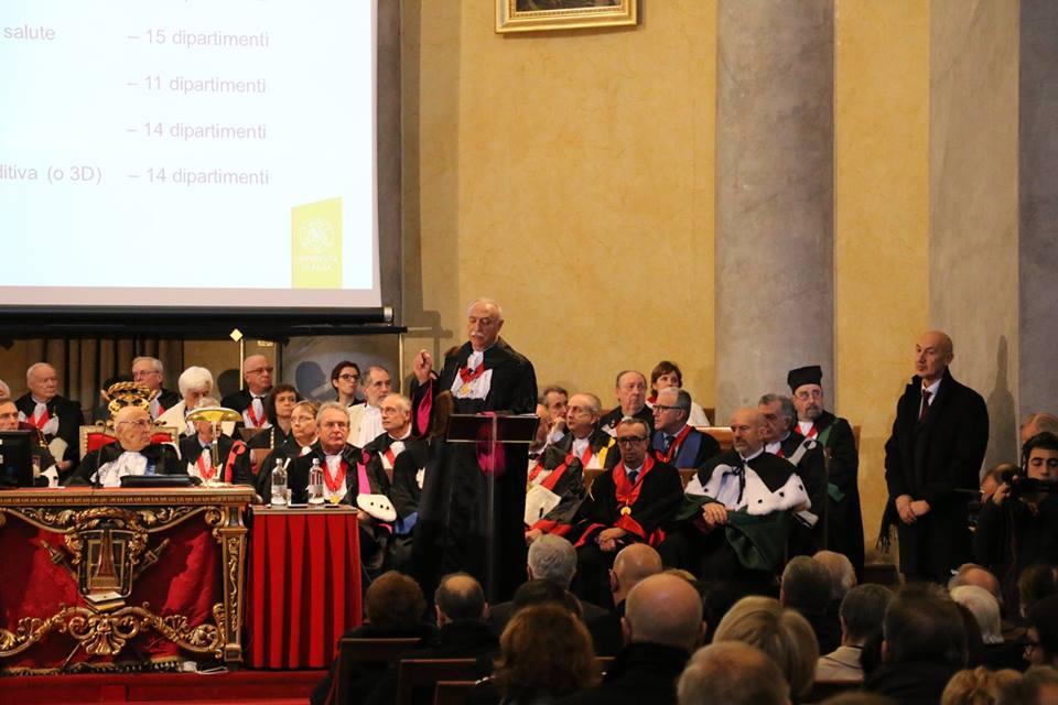 Inaugurazione a.a. 2015/16 - Il Discorso del Rettore prof. Fabio Rugge (video)