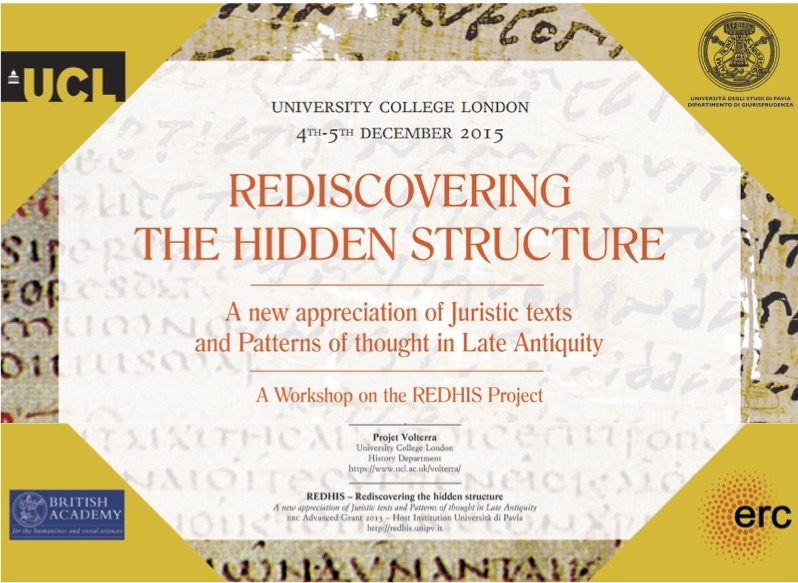4 e 5 dicembre - Rediscovering the hidden structure