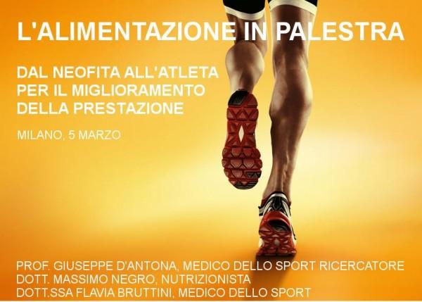 5 marzo - L'alimentazione in palestra: dal neofita all'atleta per il miglioramento della prestazione
