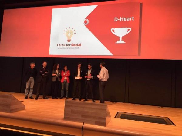 Il progetto D-Heart vince il grant da 200.000 euro della Fondazione Vodafone Italia