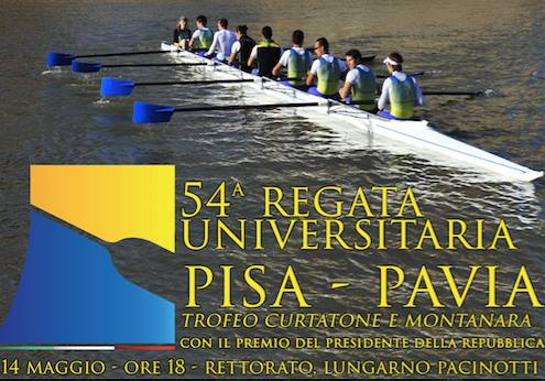 14 maggio – 54^a Regata Pisa – Pavia. Trofeo Curtatone e Montanara