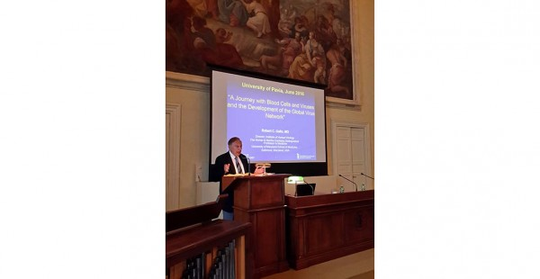 Robert Gallo @ Università di Pavia on Global Virus Network (Video)
