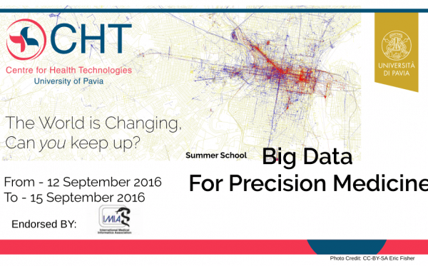 "Dal 12 al 15 settembre - Summer School on ""Big Data for Precision Medicine"""