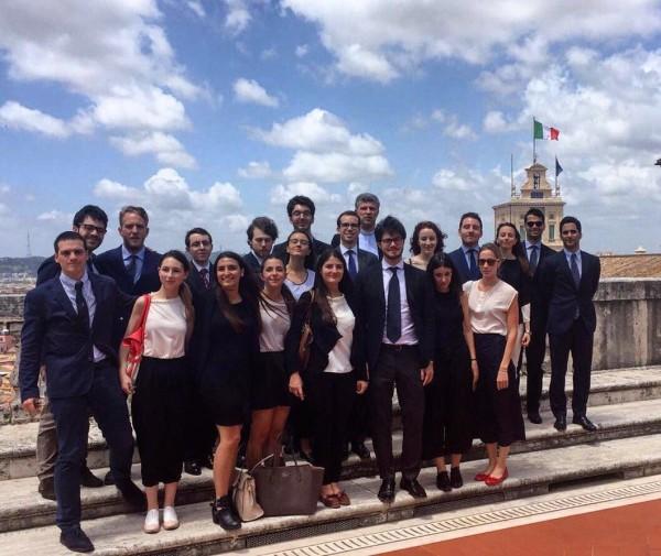 Alunni del Collegio Borromeo in visita al Senato e alla Corte Costituzionale