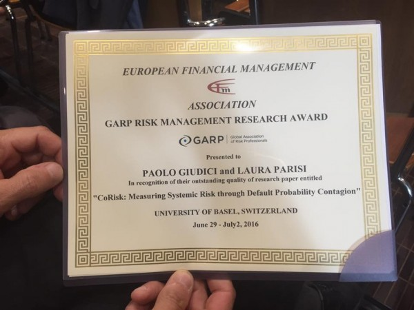 "Ricerca UNIPV premiata al convegno ""European Financial Management"""