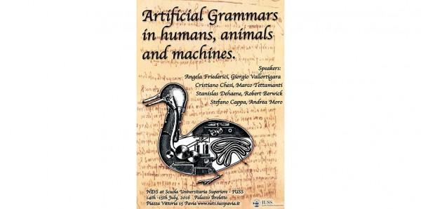 14 e 15 luglio - Grammatiche artificiali in umani, animali e macchine