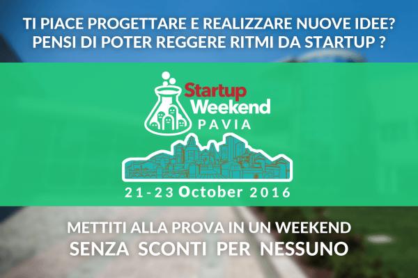Dal 21 al 23 ottobre - Startup Weekend