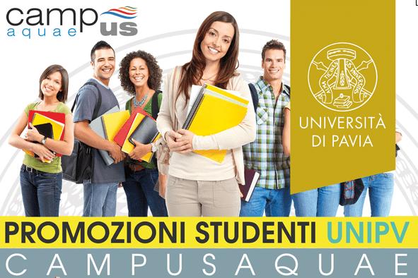 Promozioni Campus Aquae per studenti UNIPV