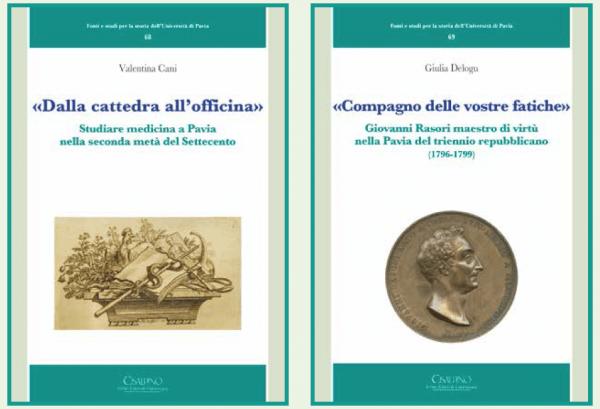 """15 novembre - Presentazione ultimi volumi della collana """"Fonti e studi per la storia dell'Università di Pavia"""""""