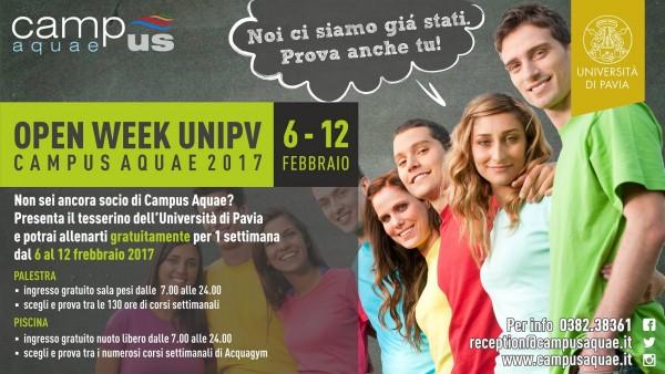 Dal 6 al 12 febbraio - Open Week UNIPV al Campus Aquae