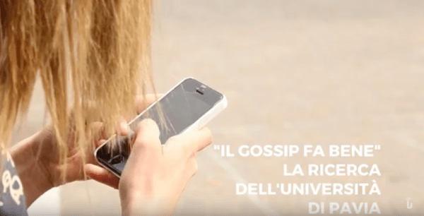 """Il gossip fa bene"" la ricerca dell'Università di Pavia (Video)"