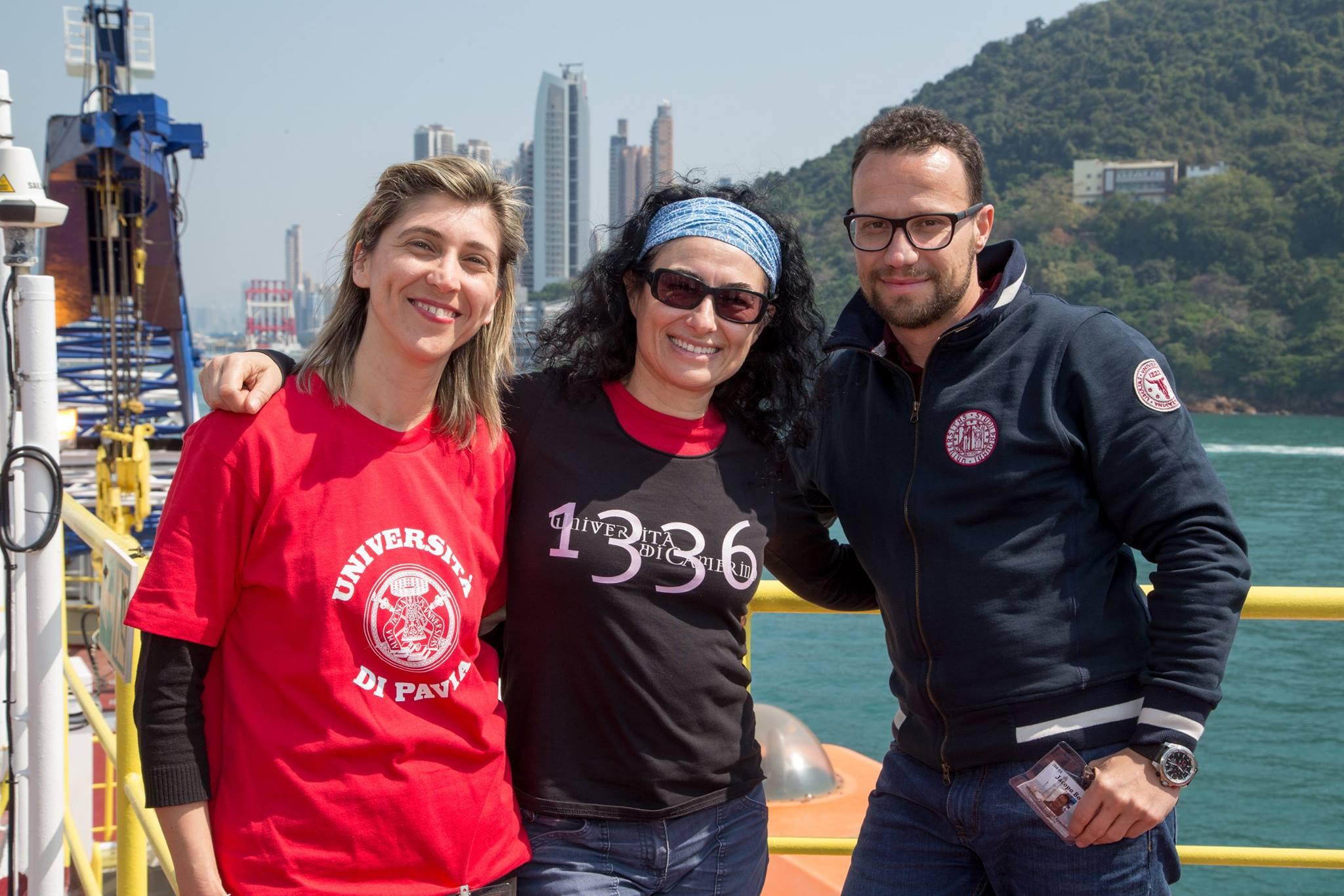 Foto Claudia Lupi a bordo