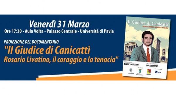"""31 marzo – Presentazione documentario """"Il Giudice di Canicattì"""""""