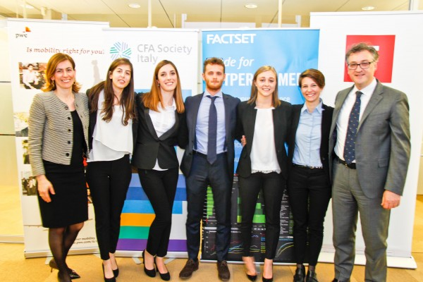 Team UNIPV quarto all'edizione italiana della CFA Research Challenge 2017