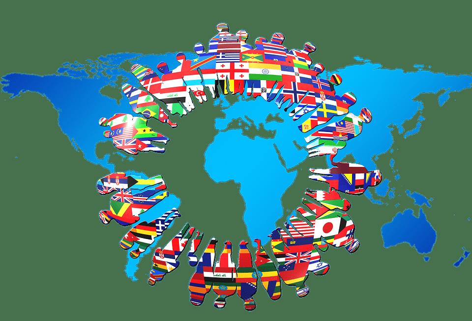 mondo continenti internazionalizzazione