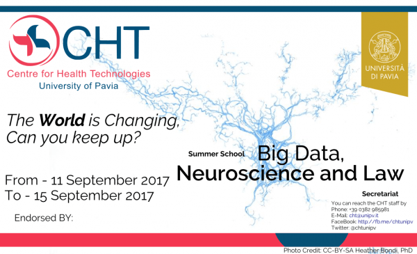 "Dall'11 al 15 settembre – Summer School ""Big data, neuroscience and law"""