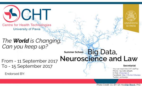 """Dall'11 al 15 settembre – Summer School """"Big data, neuroscience and law"""""""