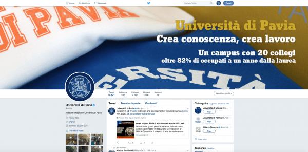 @UNIPV all'11° posto tra i profili Twitter più citati di tutte le università italiane