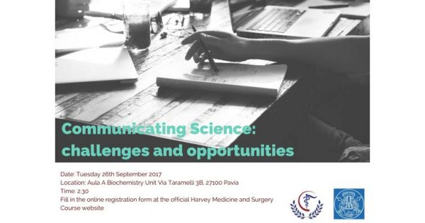 26 settembre - Communicating Science: Challenges and Opportunities