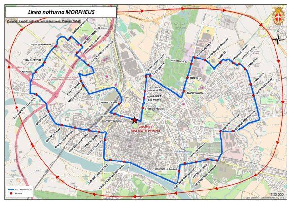 Riparte il servizio di trasporto pubblico notturno MORPHEUS