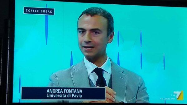 """Andrea Fontana #UNIPV ospite di La7 per parlare di """"fake news"""""""