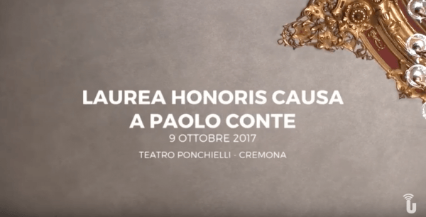 Laurea honoris causa a Paolo Conte (Video cerimonia integrale)