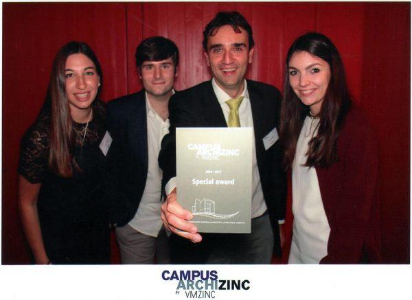 Concorso Wmzinc Campus Archizinc: menzione speciale per progetto UNIPV