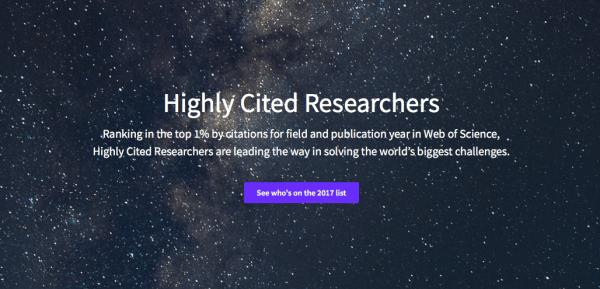 """Tre professori UNIPV nella lista """"Highly Cited Researchers"""""""