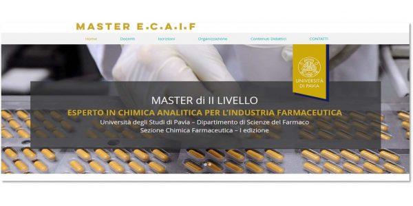"""Nuovo Master di II livello in """"Esperto di Chimica Analitica per l'Industria Farmaceutica"""""""