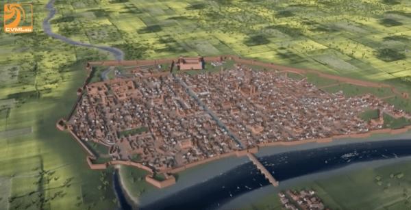 Ricostruzione virtuale di Pavia nel XVI secolo