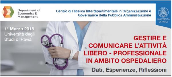 1 marzo – Gestire e comunicare l'attività libero-professionale in ambito ospedaliero