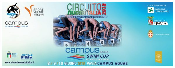 Dall'8 al 10 giugno – Campus Swim Cup. International swim meeting