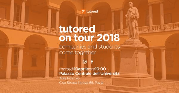 "10 aprile - ""Tutored on Tour"" fa tappa a Pavia"