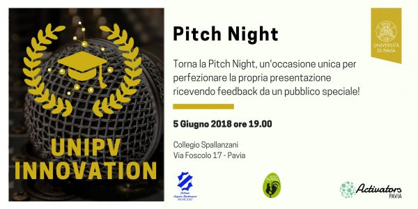 5 giugno - Pitch Night di UniPV Innovation