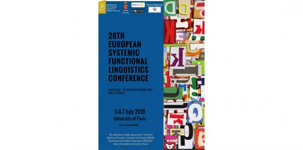 Dal 5 al 7 luglio - 28th European Systemic Functional Linguistics Conference