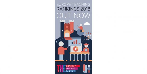 UniPV nell'Europe Teaching Rankings 2018