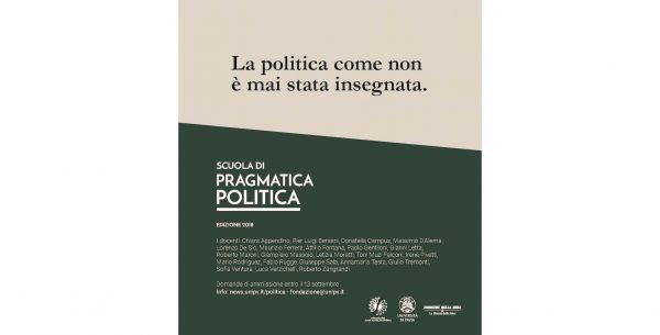 "A Pavia nasce la ""Scuola di pragmatica politica"""