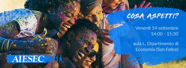 14 settembre - Cosa aspetti? Entra in AIESEC!