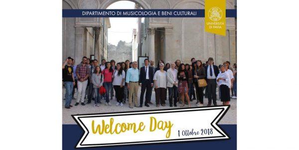 1 ottobre – Welcome Day Dipartimento di Musicologia e Beni Culturali